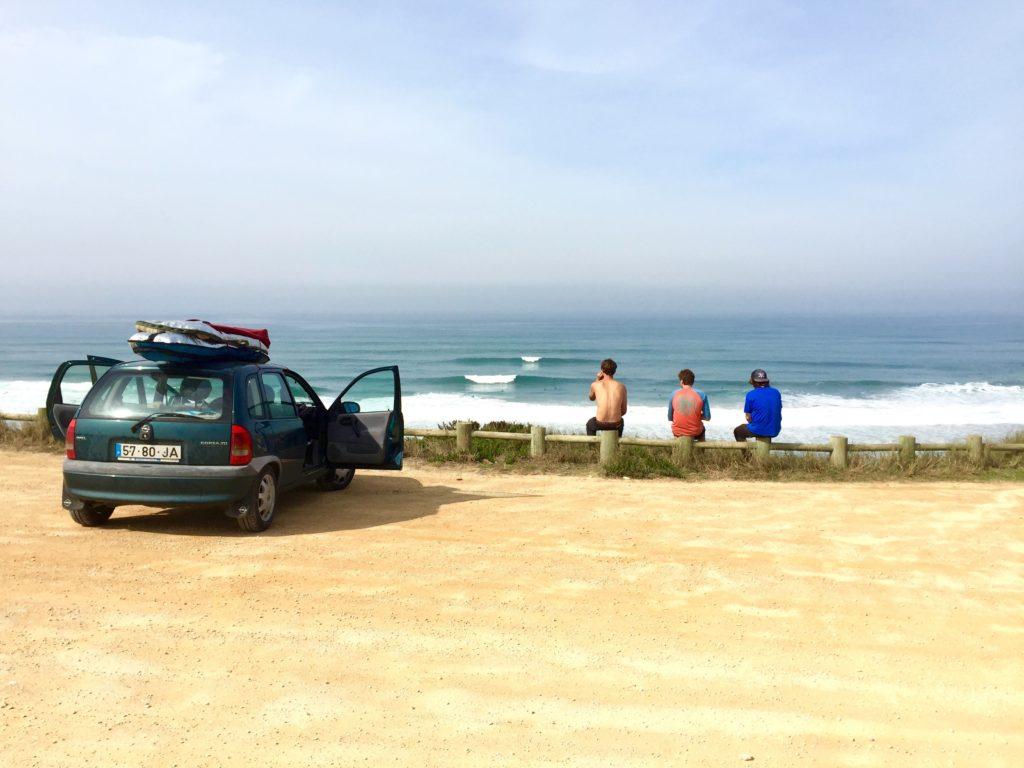 Surf spot praia azul portugal