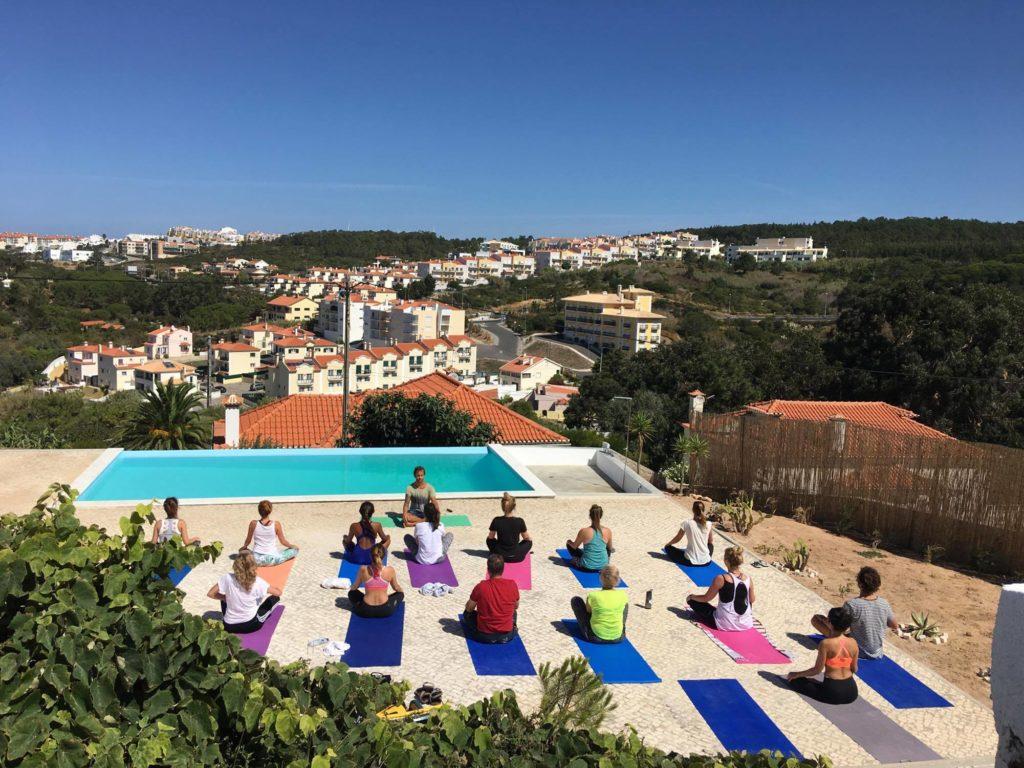yoga brunch event ericeira portugal