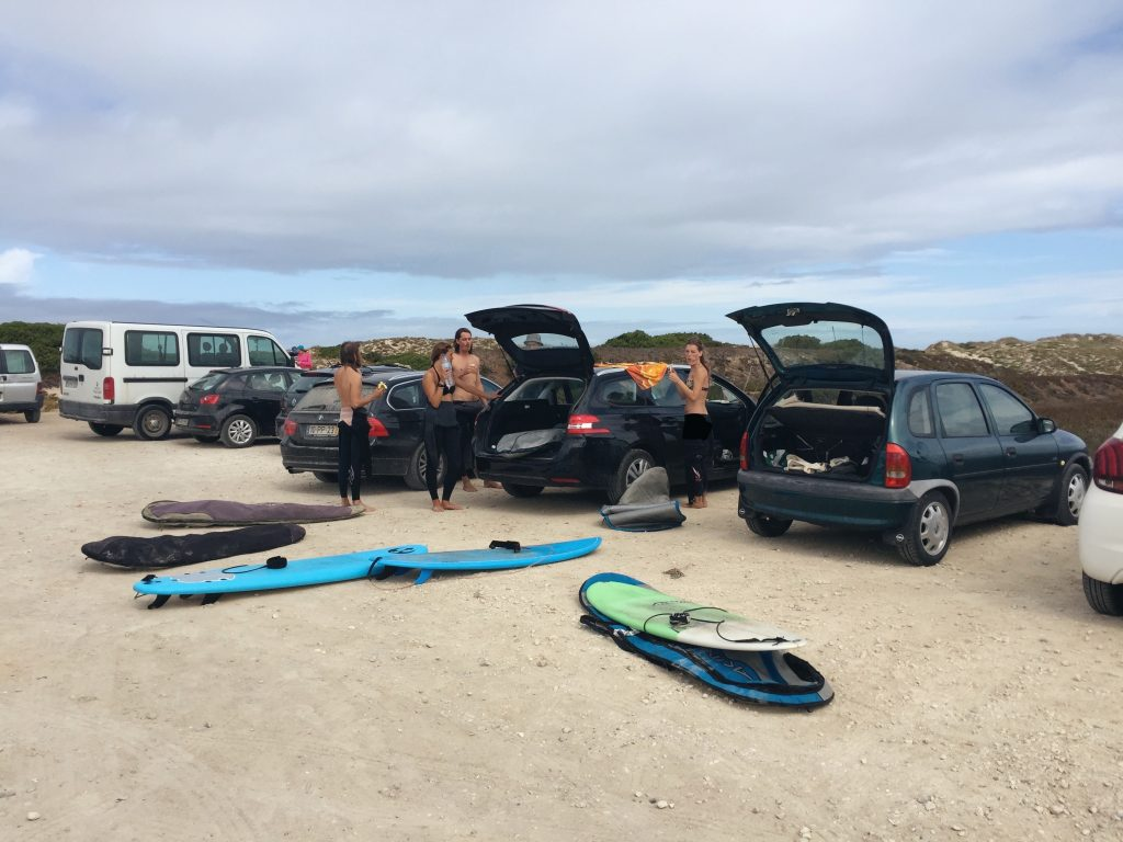 ericeira peniche transport surf