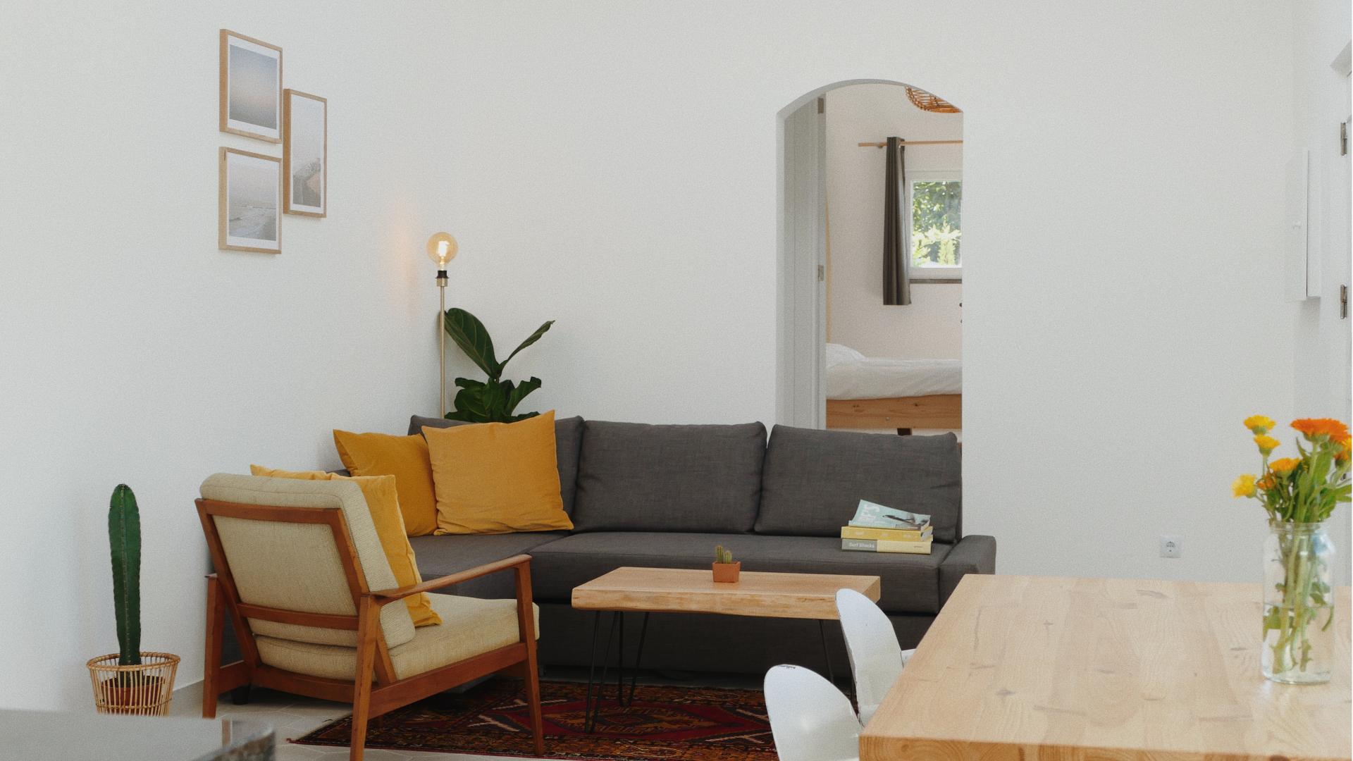 living room casa ola onda ericeira vacation rental